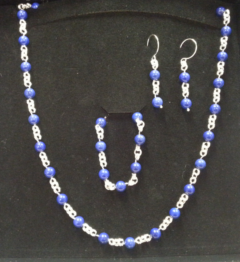 Sterling Silver and Lapis Jewelry Set